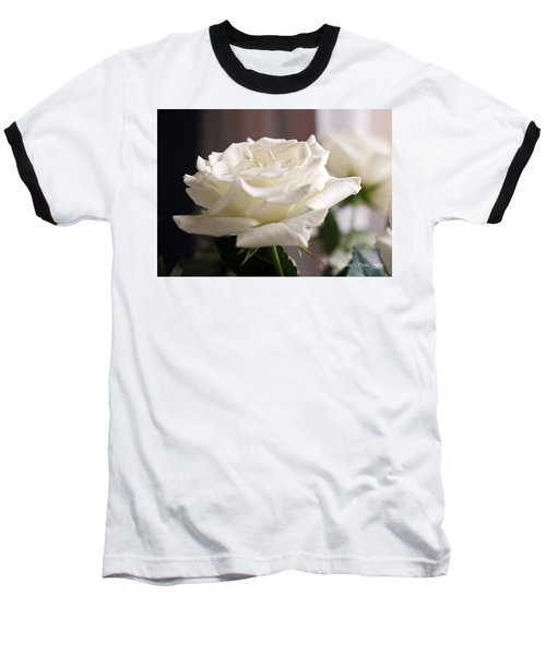 Perfect White Rose Baseball T-Shirt