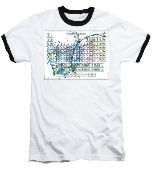 Periodic Table Colorful Liquid Splash Baseball T-Shirt by Eti Reid