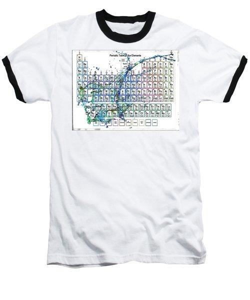 Periodic Table Colorful Liquid Splash Baseball T-Shirt