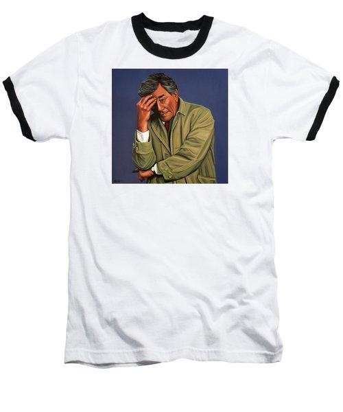 Peter Falk As Columbo Baseball T-Shirt by Paul Meijering