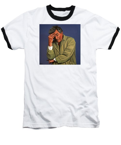 Peter Falk As Columbo Baseball T-Shirt