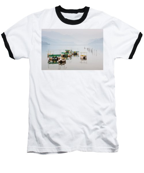 Phewa Lake In Pokhara Nepal Baseball T-Shirt