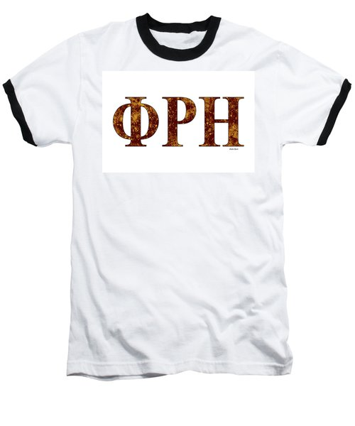Baseball T-Shirt featuring the digital art Phi Rho Eta - White by Stephen Younts