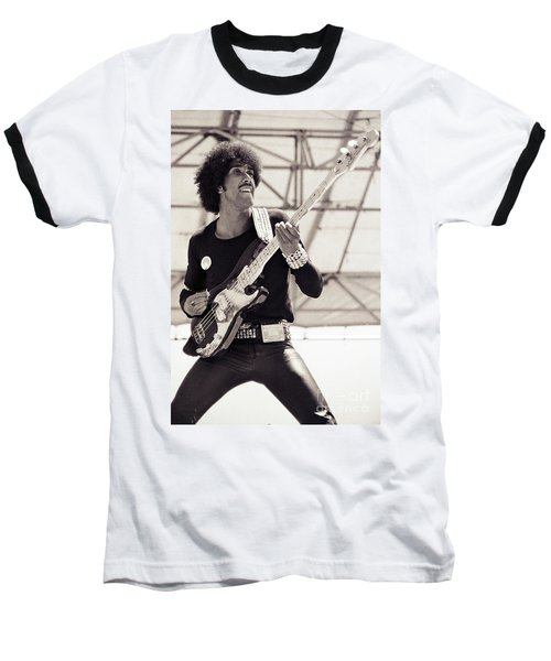 Phil Lynott Of Thin Lizzy Black Rose Tour At Day On The Green 4th Of July 1979 - Unreleased No 2 Baseball T-Shirt