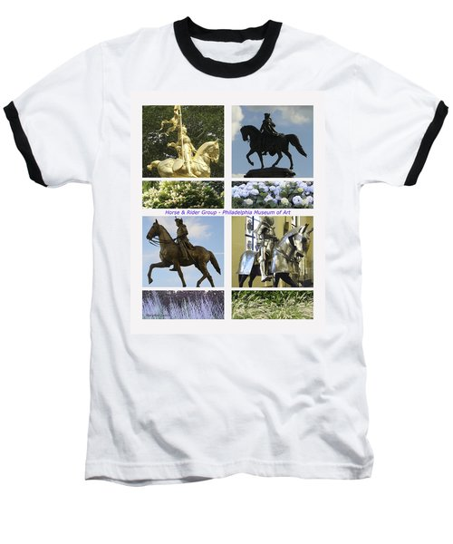 Philadelphia Museum Of Art Baseball T-Shirt by Mary Ann Leitch
