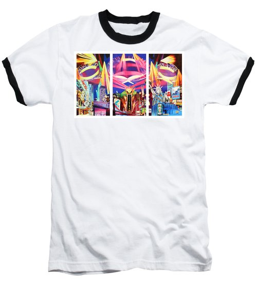 Phish New York For New Years Triptych Baseball T-Shirt by Joshua Morton