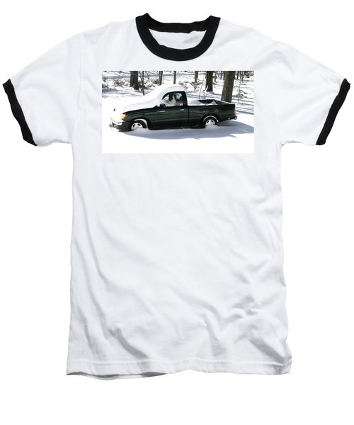 Baseball T-Shirt featuring the photograph Pickup In The Snow by Pamela Hyde Wilson