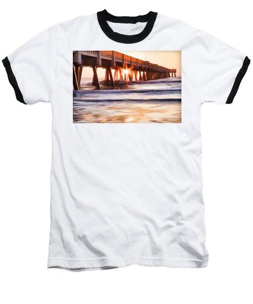 Pier Sunrise Too Baseball T-Shirt