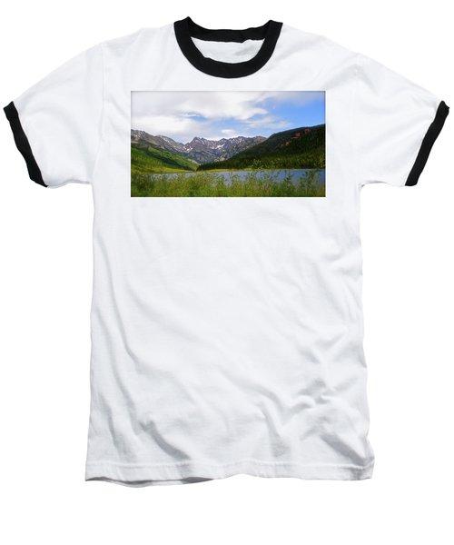 Piney Lake In Upper Vail Baseball T-Shirt