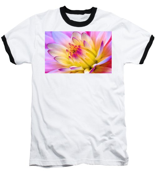 Pink And White Water Lily Baseball T-Shirt