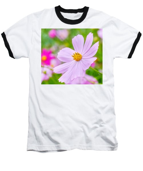 Pink Flower  Baseball T-Shirt