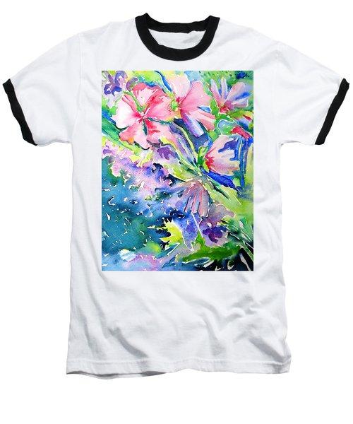 Pink Lavatera Profusion Baseball T-Shirt
