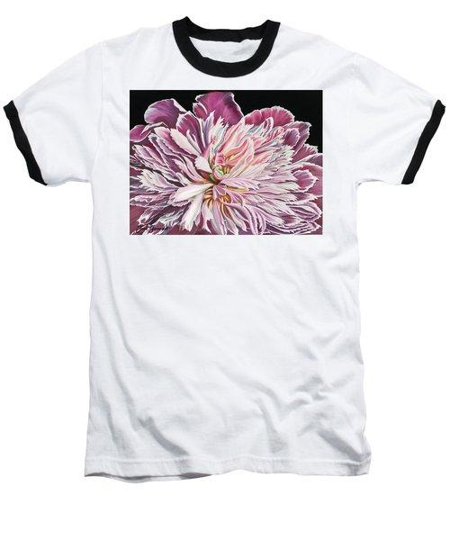 Pink Peony Baseball T-Shirt by Jane Girardot