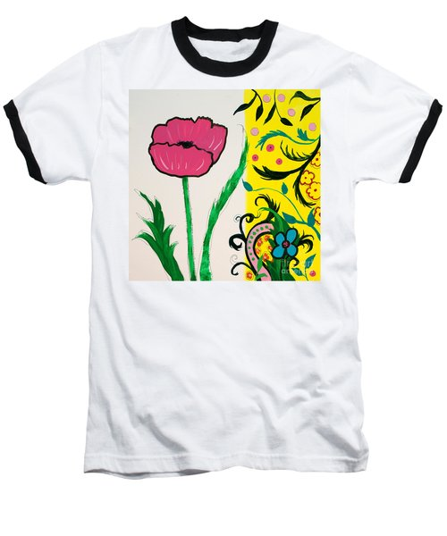 Pink Poppy And Designs Baseball T-Shirt