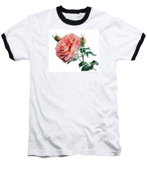 Pink Rose Odette  Baseball T-Shirt