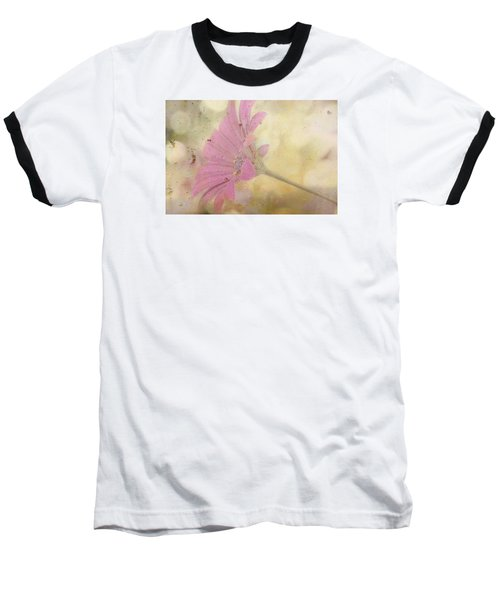 Pink Textured Gazania Baseball T-Shirt