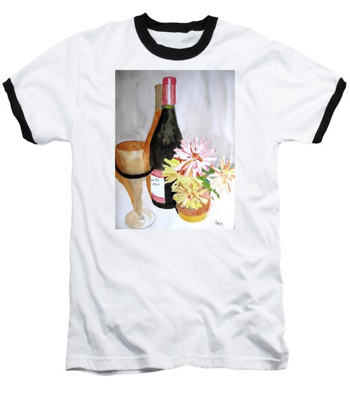 Baseball T-Shirt featuring the painting Pinot Noir by Sandy McIntire