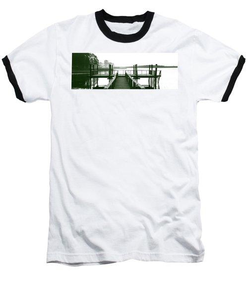 Pirate's Cove Pier In Monochrome Baseball T-Shirt