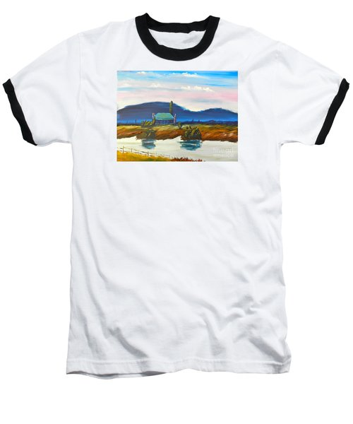 Baseball T-Shirt featuring the painting Pittown by Pamela  Meredith