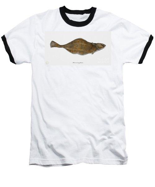 Plaice Pleuronectes Platessa - Flat Fish Pleuronectiformes - Carrelet Plie - Solla - Punakampela Baseball T-Shirt