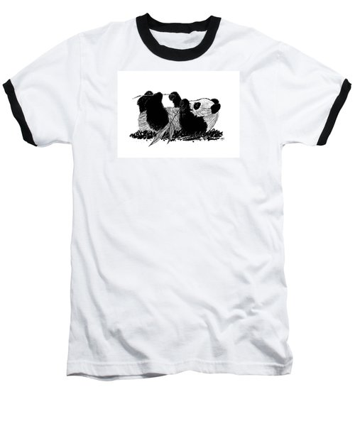 Playful Panda Baseball T-Shirt