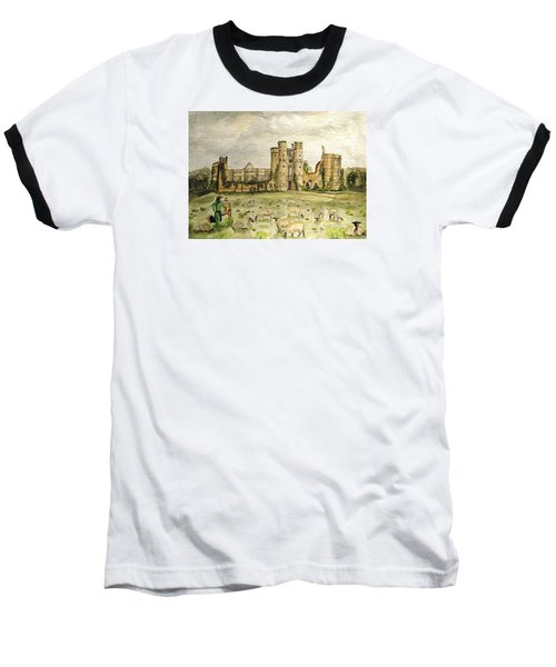 Plein Air Painting At Cowdray House Sussex Baseball T-Shirt by Angela Davies
