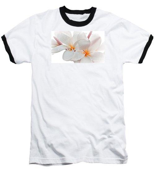 Plumeria Baseball T-Shirt by Roselynne Broussard