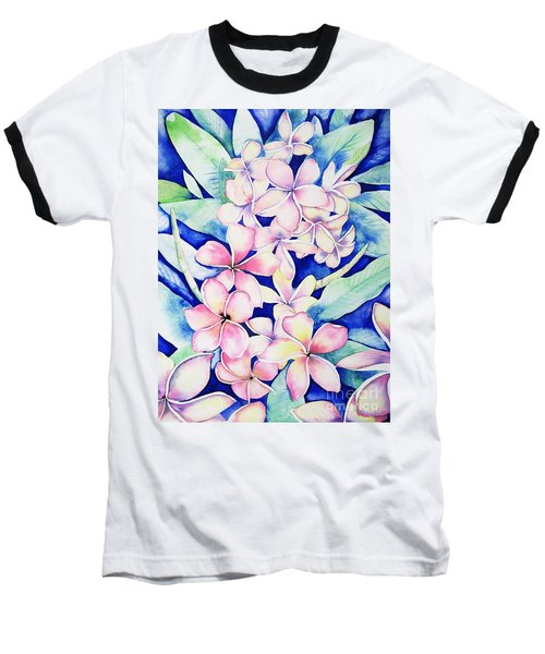 Plumerias Of Maui Baseball T-Shirt