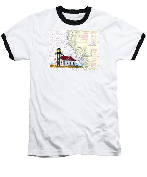 Point Cabrillo Light Station Baseball T-Shirt by Mike Robles