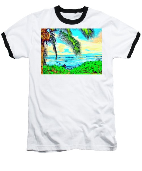 Poipu Sunrise Baseball T-Shirt