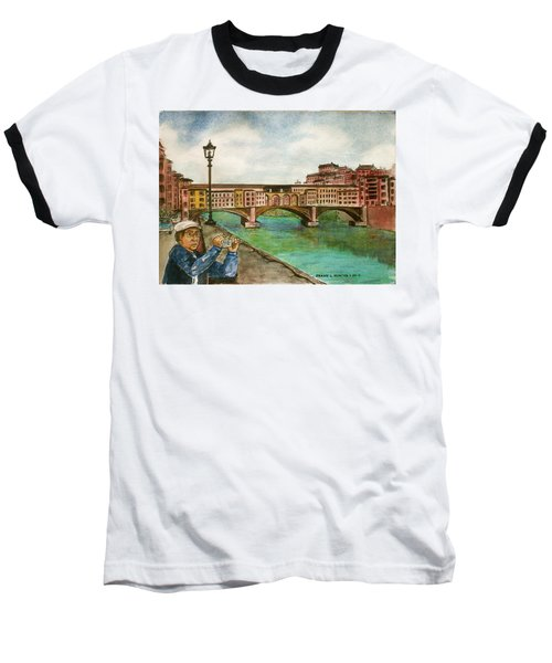 Ponte Vecchio Florence Italy Baseball T-Shirt by Frank Hunter
