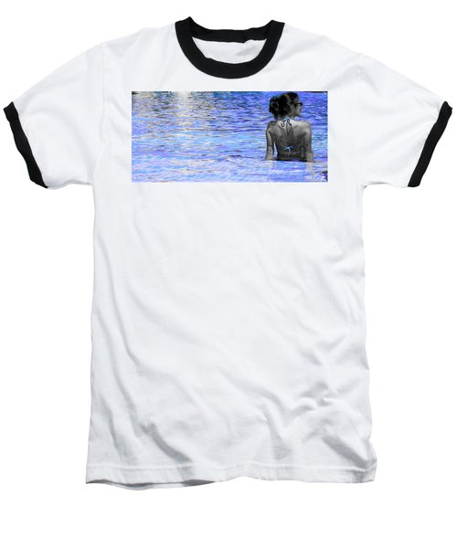 Baseball T-Shirt featuring the photograph Pool by J Anthony