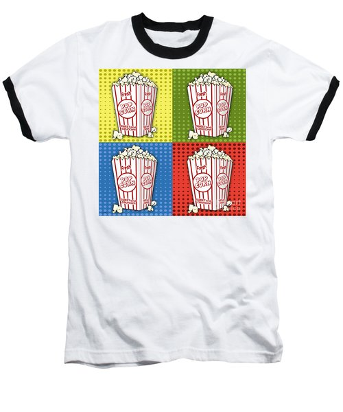 Popcorn Pop Art-jp2375 Baseball T-Shirt