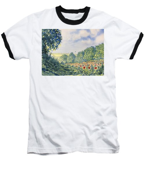 Poppies A'plenty Baseball T-Shirt