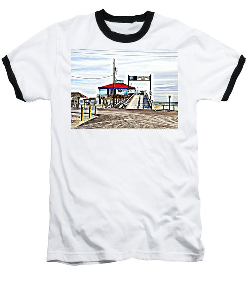 Baseball T-Shirt featuring the photograph Port Aransas Gulf Side by Antonia Citrino