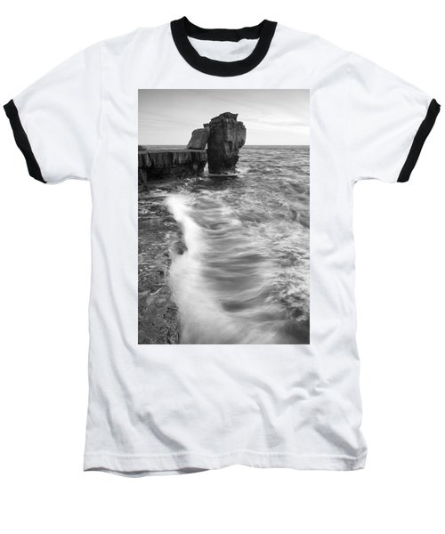 Portland Bill Seascape Baseball T-Shirt