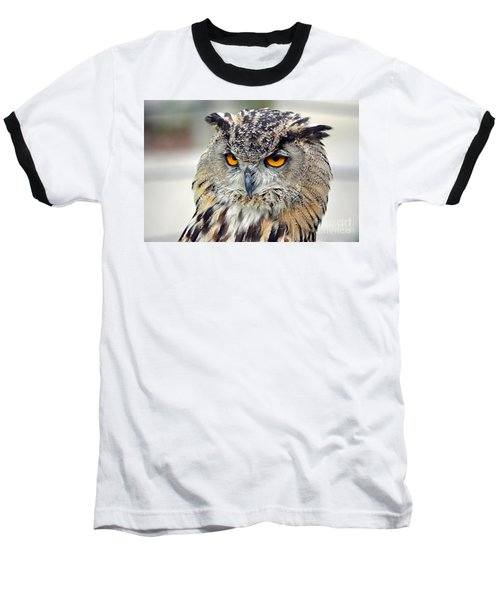 Baseball T-Shirt featuring the photograph Portrait Of A Great Horned Owl II by Jim Fitzpatrick
