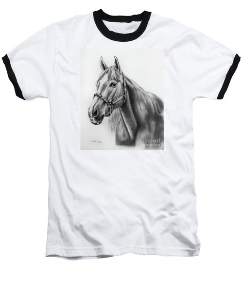 Portrait Of A Horse Baseball T-Shirt by Lena Auxier