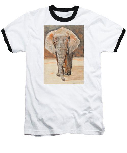 Baseball T-Shirt featuring the painting Portrait Of An Elephant by Jeanne Fischer