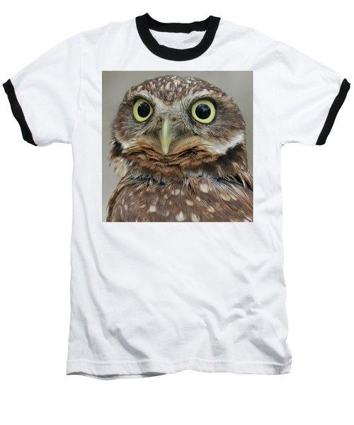 Portrait Of Burrowing Owl Baseball T-Shirt