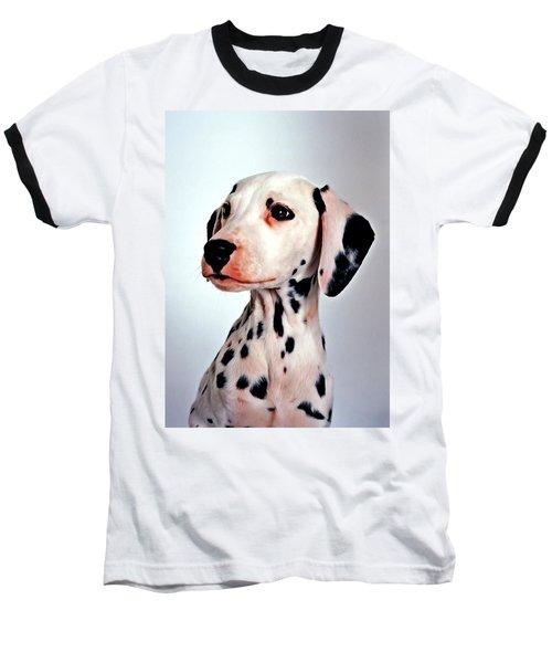Portrait Of Dalmatian Dog Baseball T-Shirt by Lanjee Chee