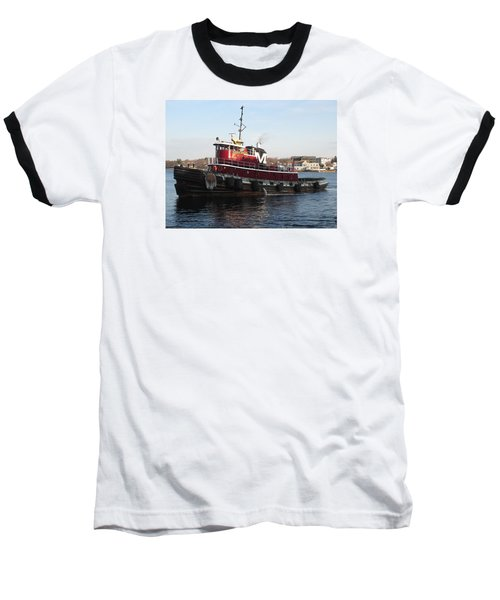 Portsmouth Harbor Tug Boat Winter Baseball T-Shirt