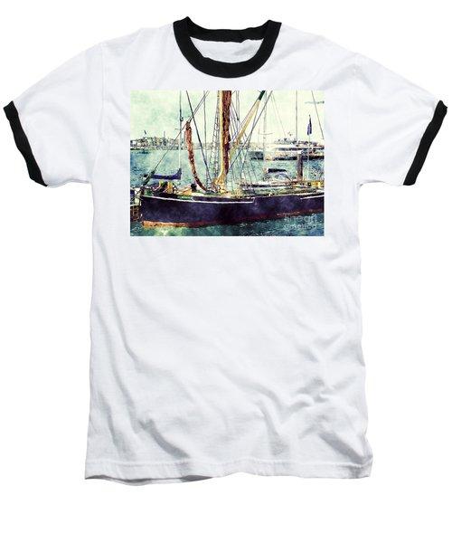 Portsmouth Harbour Boats Baseball T-Shirt