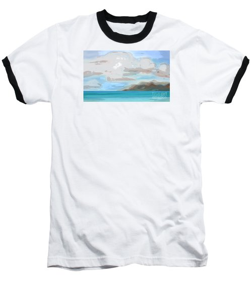 Posterized Landscape Alaska  Baseball T-Shirt
