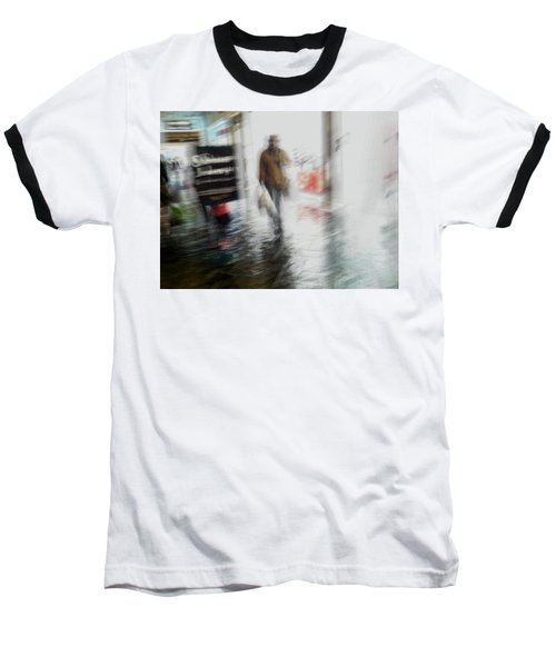 Baseball T-Shirt featuring the photograph Pounding The Pavement by Alex Lapidus
