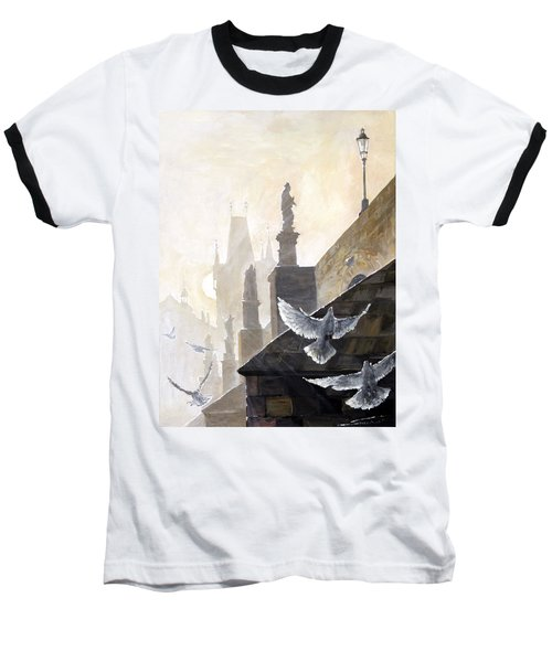 Prague Morning On The Charles Bridge  Baseball T-Shirt