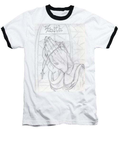 Praying Hands Baseball T-Shirt