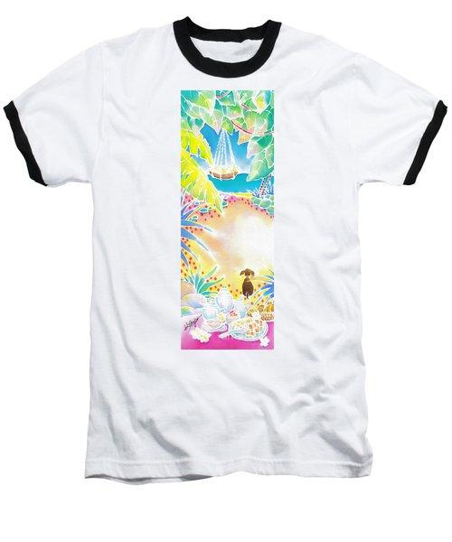 Baseball T-Shirt featuring the painting Precious Morning by Hisayo Ohta