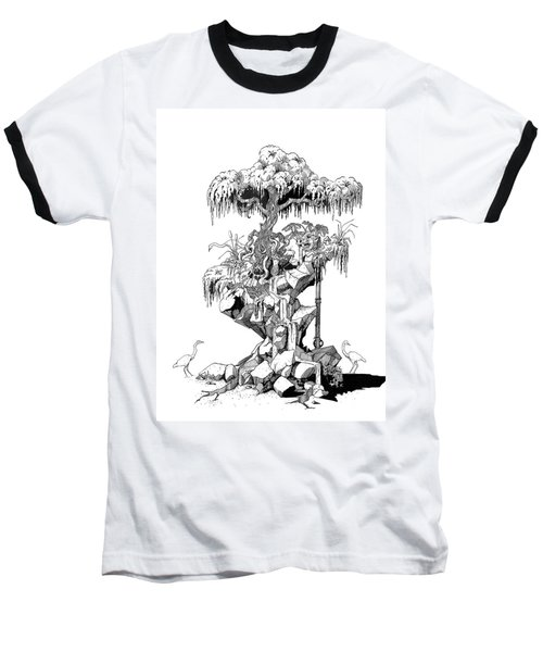 Ptactvo Baseball T-Shirt by Julio Lopez