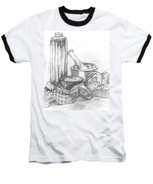Baseball T-Shirt featuring the drawing Preparing Starter Course by Teresa White